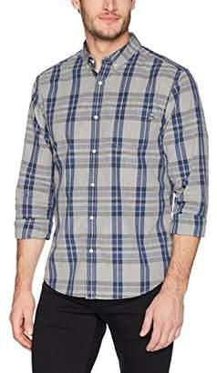 Life After Denim Men's Long Sleeve Slim Fit Berkeley Poplin Plaid Shirt
