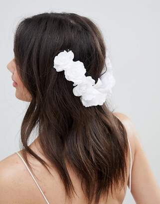 Asos Design DESIGN Bridal Floral Back Hair Clip