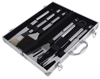 Facetosun 6Pcs/set Stainless Steel BBQ Tools Set Kit Barbecue Grill Tool Set With Case