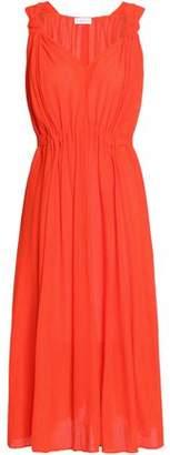 Claudie Pierlot Rousse Bow-Detailed Georgette Dress