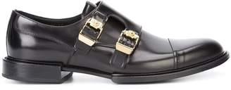 Versace double buckle Norman derby shoes