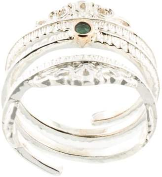Bed J.W. Ford crowned jewel ring