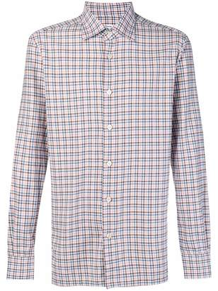 Kiton checked shirt