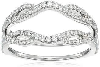 14k Gold Diamond Solitaire Enhancer Ring (1/3cttw
