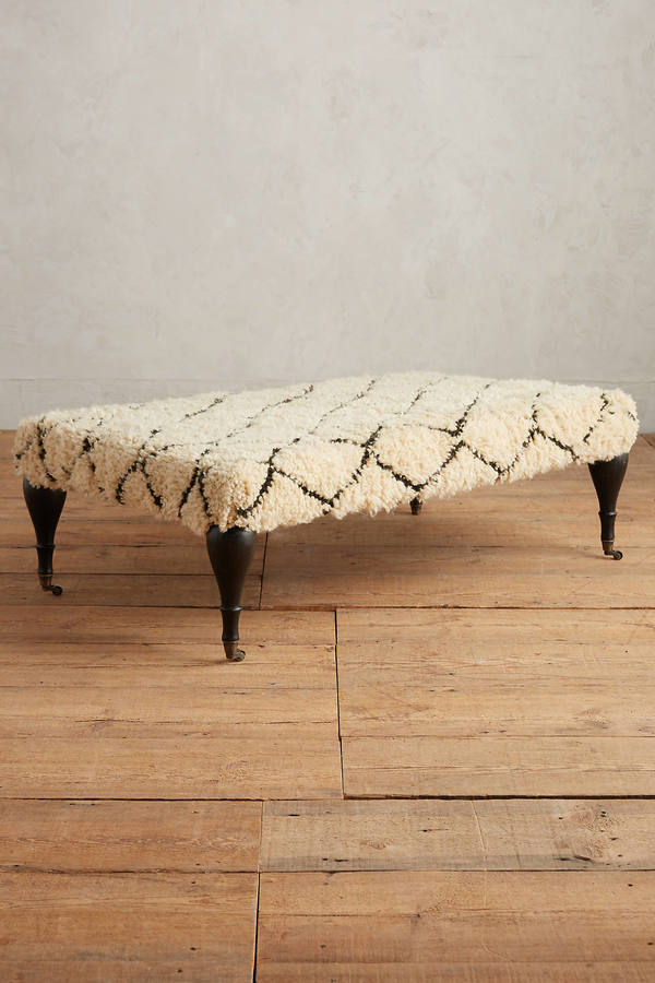 Anthropologie Anthropologie Moroccan Shag Ottoman