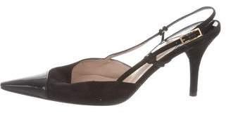 Chanel Suede Cap-toe Pumps