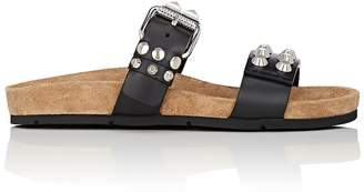 Prada Women's Studded Leather Double-Band Sandals