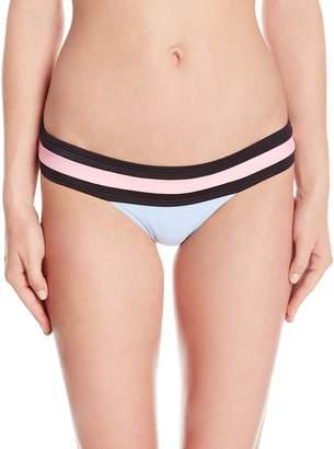 Pilyq Women's Pebble Banded Color Block Full Bikini Bottom