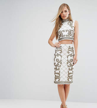 Co Starlet Baroque Embellished Midi Skirt Ord