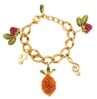 Dolce & Gabbana Fruit & Musical Notes Charm Bracelet
