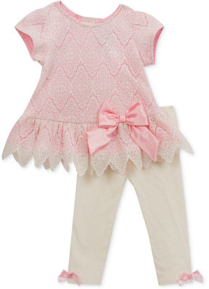 Rare Editions 2-Pc. Lace Tunic & Leggings Set, Baby Girls (0-24 months) $50 thestylecure.com