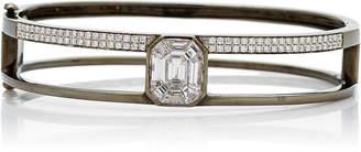 As 29 AS29 Small 15.5cm Black Gold and Illusion Diamond Bangle