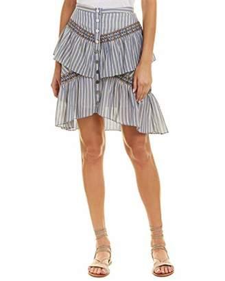 57084594e0 BCBGMAXAZRIA Women s Tiered Ruffle Stripe Skirt
