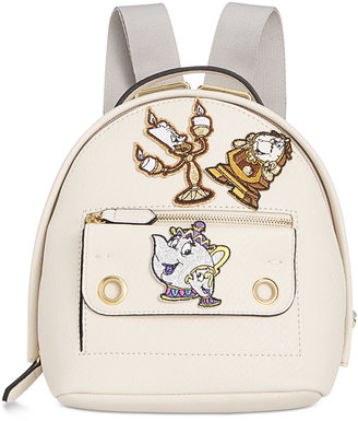 Disney By Danielle Nicole Mila Mini Beauty And The Beast Backpack with Patches $88 thestylecure.com