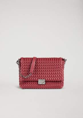 d1894a7ddbb Emporio Armani Cross Body Bag In Quilted Faux Nappa Leather With Teardrop  Motif