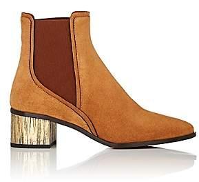 Chloé Women's Quassie Suede Ankle Boots-Brown