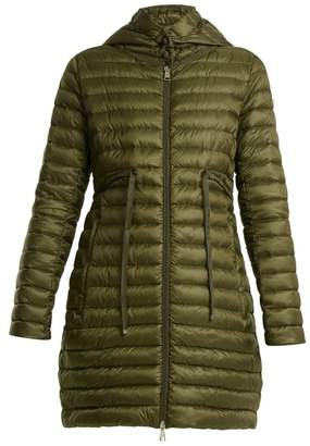 Moncler - Barbel Quilted Down Hooded Coat - Womens - Khaki