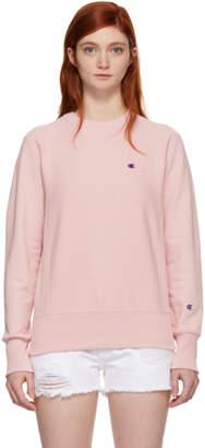 Champion Reverse Weave Pink Small Logo Sweatshirt