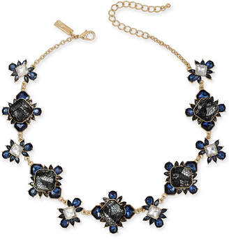"""INC International Concepts I.N.C Gold-Tone Stone & Lace Collar Necklace, 16"""" + 3"""" extender, Created for Macy''s"""