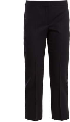 Alexander McQueen Cropped grain de poudre wool trousers