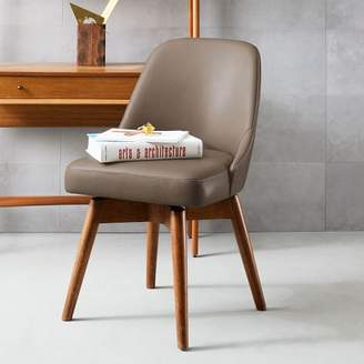 west elm Mid-Century Leather Swivel Office Chair