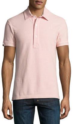 Orlebar Brown Sebastian Striped Tailored Polo Shirt, Plum