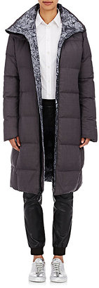 The North Face Women's Reversible Puffer Long Jacket-GREY $950 thestylecure.com