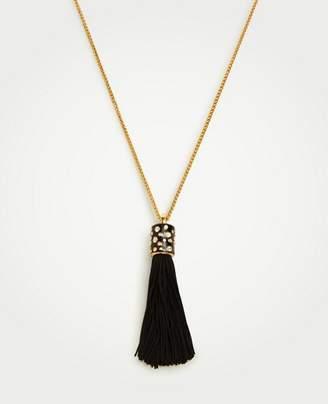 Ann Taylor Fabric Tassel Pendant Necklace