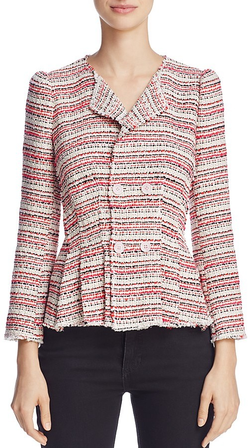 Rebecca TaylorRebecca Taylor Double-Breasted Tweed Jacket
