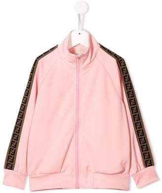 Fendi zip-up logo sweatshirt
