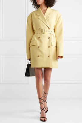 Frankie Shop - Linda Belted Cady Blazer Dress - Pastel yellow