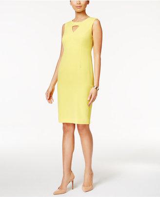 Kasper Keyhole Sheath Dress $89 thestylecure.com