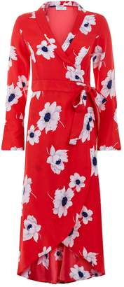 Equipment Gowin Floral Wrap Midi Dress