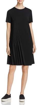 DKNY Short Sleeve Asymmetric-Pleat Dress $299 thestylecure.com