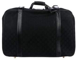 Gucci Vintage GG Canvas Suitcase