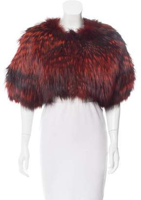 Oscar de la Renta Fox Fur Short Sleeve Bolero w/ Tags