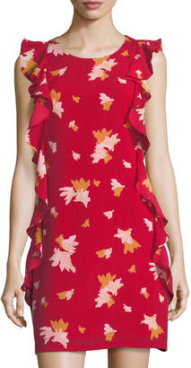 Julie Brown Leah Shift Dress w/ Ruffles