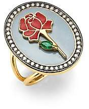 Holly Dyment Holly Dyment Red Rose 18K Gold, Emerald& Diamond Ring