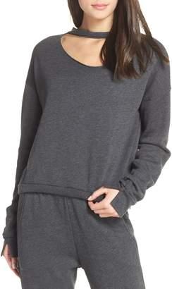 Groceries Apparel Cutout Fleece Sweatshirt