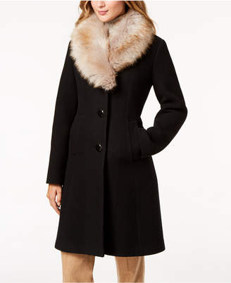 Kate Spade Coat with Faux Fur Collar