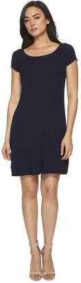 Three Dots Dress w/ Lettuce Leaf Hem Women's Dress