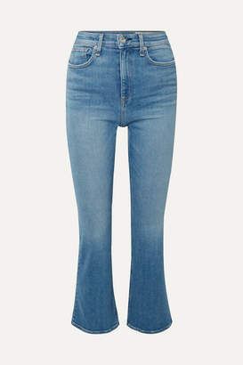 Rag & Bone Nina Cropped High-rise Flared Jeans - Mid denim