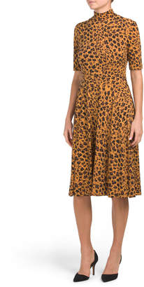 Donna Morgan Animal Printed Jersey Dress