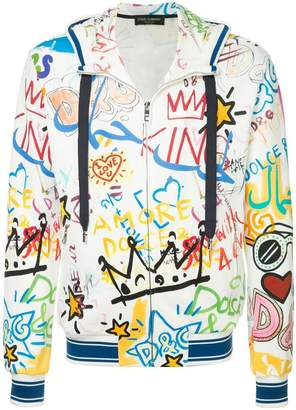 a20ff82ccf7dc Dolce   Gabbana graffiti print zip hoodie