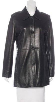 Andrew Marc Leather Short Coat $200 thestylecure.com