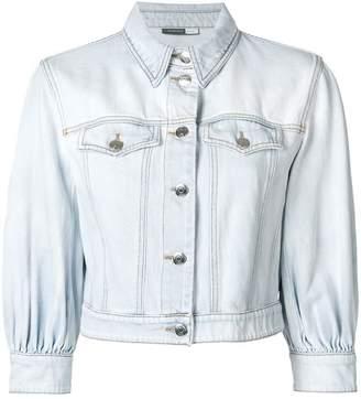 Sportmax Code cropped sleeves denim jacket