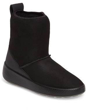Women's Ecco Ukiuk Genuine Shearling Platform Boot $189.95 thestylecure.com
