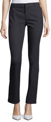 Lafayette 148 New York Thompson Diamond Stretch-Jacquard Slim-Leg Jeans