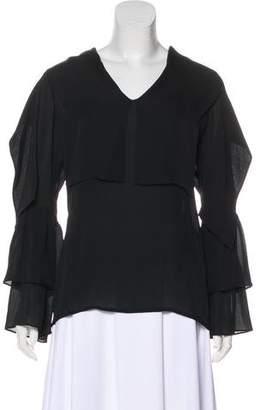 TSE Silk Long Sleeve Blouse