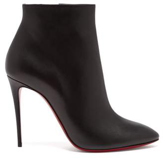Christian Louboutin Eloise 100 Leather Ankle Boots - Womens - Black